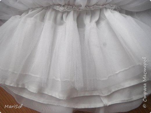 """Всем привет! Пошилось у меня вот такое """"свадебное"""" платье для дочки. Летом поедем на свадьбу моей племянницы. Шила в ручную юбку. А верх немного переделала от старого платья. фото 6"""