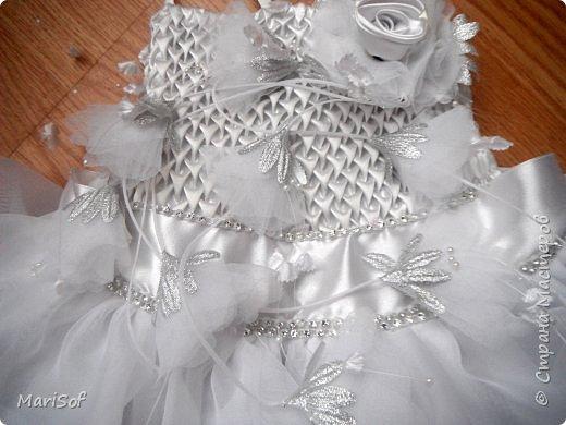 """Всем привет! Пошилось у меня вот такое """"свадебное"""" платье для дочки. Летом поедем на свадьбу моей племянницы. Шила в ручную юбку. А верх немного переделала от старого платья. фото 5"""