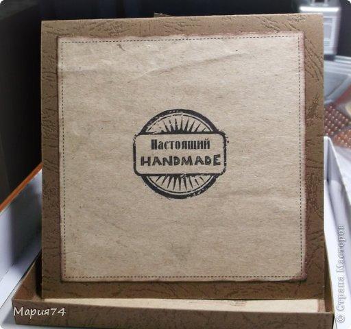 И снова я своими крафт изделиями. На сей раз это женская открытка - для женщины рукодельницы. Открытка в коробке. Правда, уже давно сделала, теперь немного поднакопилось опыта, уже хочется сделать по-другому. Но пока что есть, то есть... фото 4