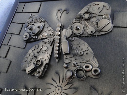 Картина панно рисунок Мастер-класс Аппликация Ассамбляж Картина Картон гофрированный Ракушки фото 1