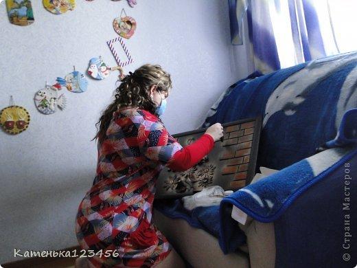 Картина панно рисунок Мастер-класс Аппликация Ассамбляж Картина Картон гофрированный Ракушки фото 25
