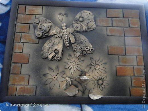 Картина панно рисунок Мастер-класс Аппликация Ассамбляж Картина Картон гофрированный Ракушки фото 27