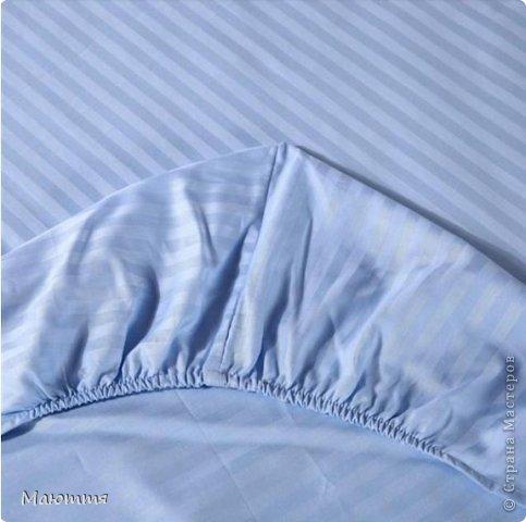 Очень многие, я думаю, согласятся со мной, что удобно спать на простыне, которая не сбивается ночью, не вылезает из-под матраса и вообще, остается в первоначальном гладком виде как бы вы ночью не крутились)))   фото 15