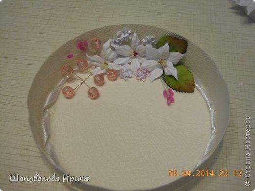 Тортик выполнен по МК Астории.  Цветочки ручной работы.  фото 5