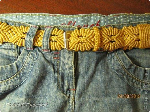 Хотите сами сплести такой широкий женский пояс к джинсам? Тогда приступаем... фото 1