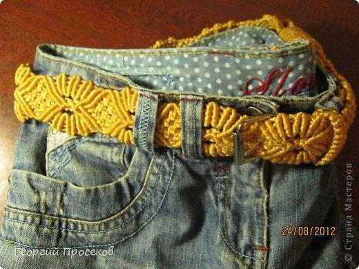 Хотите сами сплести такой широкий женский пояс к джинсам? Тогда приступаем... фото 57