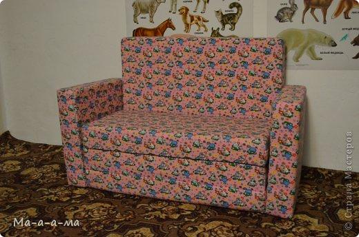 Интерьер Мастер-класс Шитьё Раскладной диван для ребенка Поролон Ткань фото 1