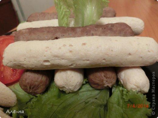 """Очень часто готовлю котлеты или суфле. Но в  этот раз решила немного разнообразить и приготовить все так же,но в виде сосисок.  Дети в восторге, а мама довольна, что  организм не подпорчен  """"химией"""" ))) фото 17"""