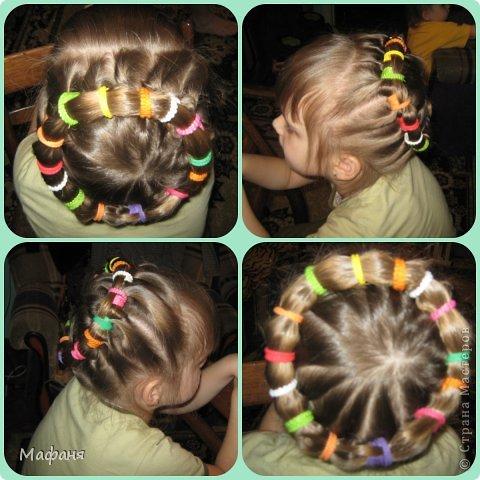 Причёски из резинок для девочек фото пошагово