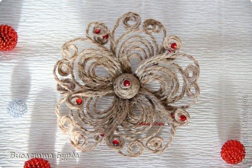 Цветы из джута мастер класс