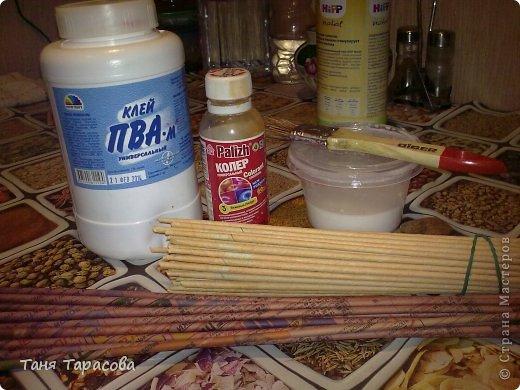 Мастер-класс Поделка изделие Плетение Шампурница из газетных трубочек Бумага газетная фото 2