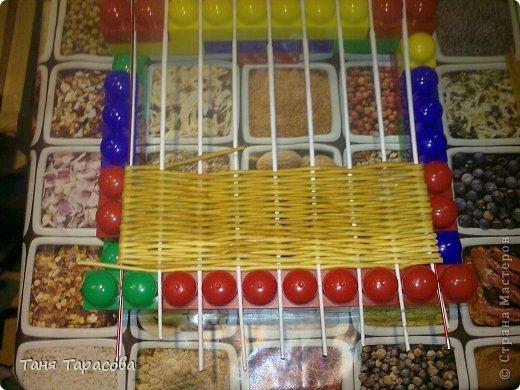 Мастер-класс Поделка изделие Плетение Шампурница из газетных трубочек Бумага газетная фото 16
