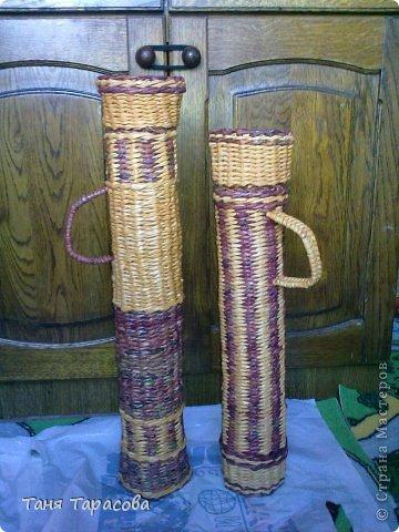 Мастер-класс Поделка изделие Плетение Шампурница из газетных трубочек Бумага газетная фото 13