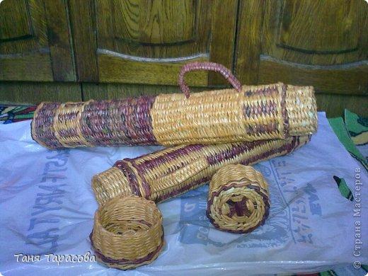 Мастер-класс Поделка изделие Плетение Шампурница из газетных трубочек Бумага газетная фото 14