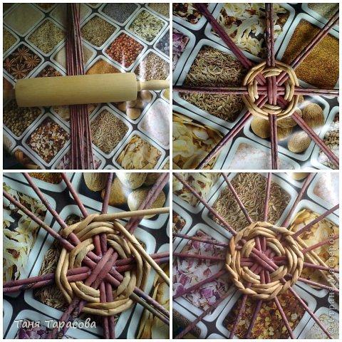 Мастер-класс Поделка изделие Плетение Шампурница из газетных трубочек Бумага газетная фото 3