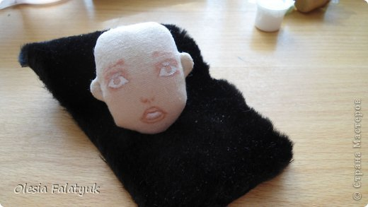 Куклы Мастер-класс Рисование и живопись Второй МК по созданию куклы Darina  роспись лица куклы и создание причёски Карандаш Краска фото 24