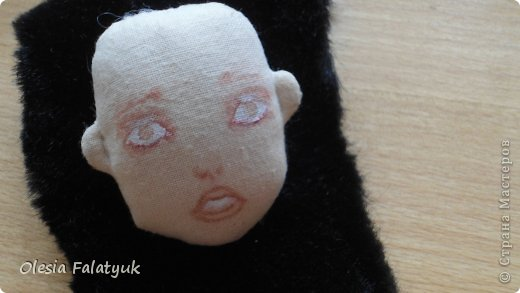 Куклы Мастер-класс Рисование и живопись Второй МК по созданию куклы Darina  роспись лица куклы и создание причёски Карандаш Краска фото 26
