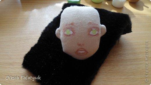 Куклы Мастер-класс Рисование и живопись Второй МК по созданию куклы Darina  роспись лица куклы и создание причёски Карандаш Краска фото 28