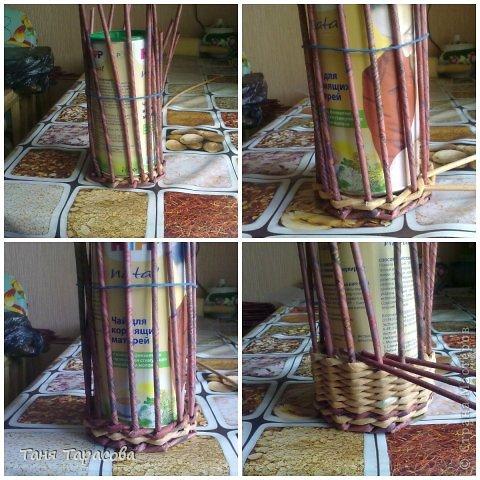 Мастер-класс Поделка изделие Плетение Шампурница из газетных трубочек Бумага газетная фото 4