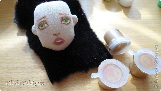 Куклы Мастер-класс Рисование и живопись Второй МК по созданию куклы Darina  роспись лица куклы и создание причёски Карандаш Краска фото 36