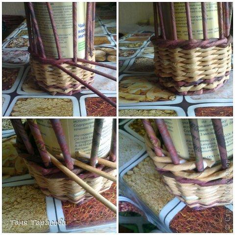 Мастер-класс Поделка изделие Плетение Шампурница из газетных трубочек Бумага газетная фото 5
