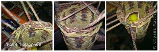 Мастер-класс Поделка изделие Плетение Шампурница из газетных трубочек Бумага газетная фото 10