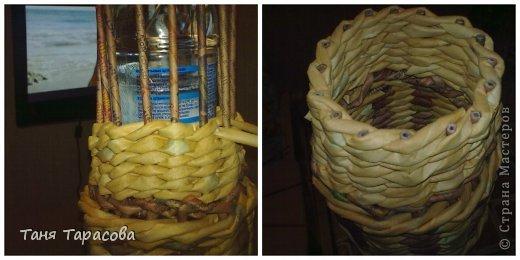 Мастер-класс Поделка изделие Плетение Шампурница из газетных трубочек Бумага газетная фото 11