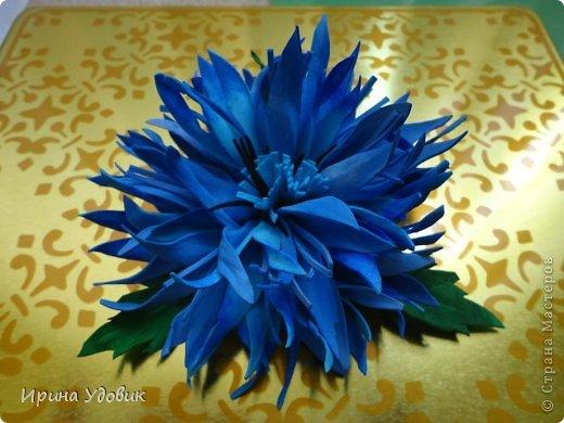 Делаем цветок василек из фоамирана (пористая резина