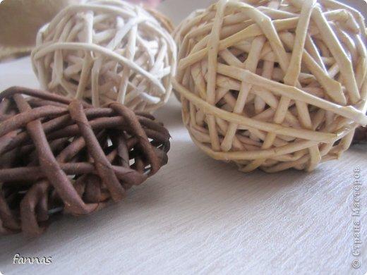 Мастер-класс Поделка изделие Плетение Декоративный шарик Трубочки бумажные фото 1