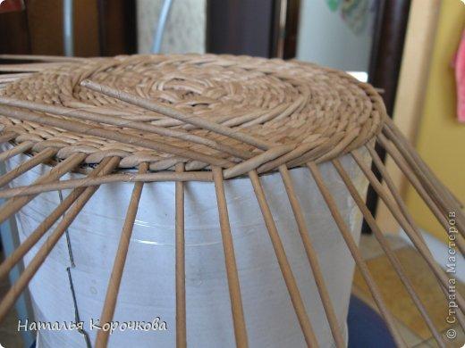Поделка изделие Плетение Домики для лука с подробностями Трубочки бумажные фото 4
