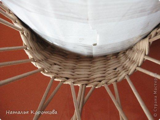 Поделка изделие Плетение Домики для лука с подробностями Трубочки бумажные фото 7