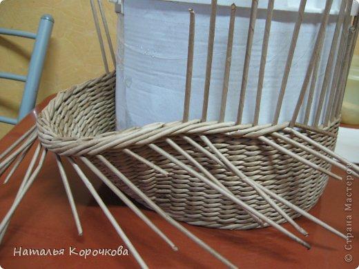Поделка изделие Плетение Домики для лука с подробностями Трубочки бумажные фото 8
