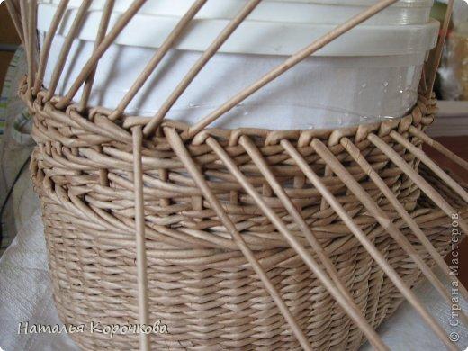 Поделка изделие Плетение Домики для лука с подробностями Трубочки бумажные фото 12