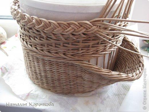 Поделка изделие Плетение Домики для лука с подробностями Трубочки бумажные фото 13