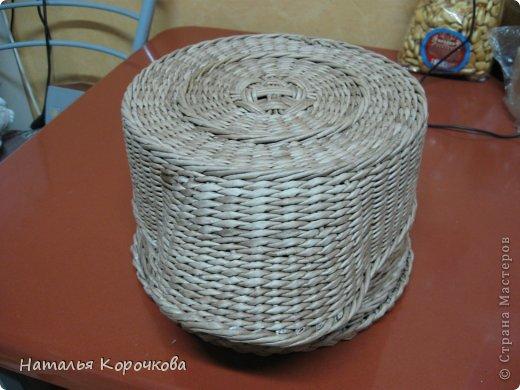 Поделка изделие Плетение Домики для лука с подробностями Трубочки бумажные фото 6