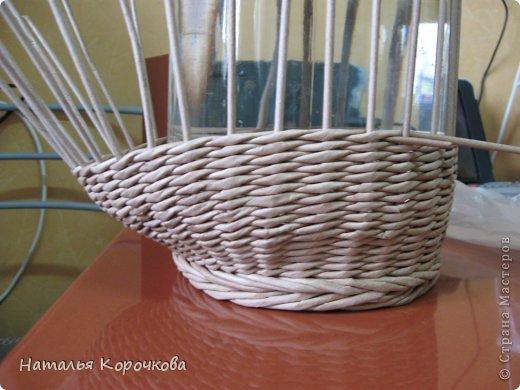 Поделка изделие Плетение Домики для лука с подробностями Трубочки бумажные фото 17