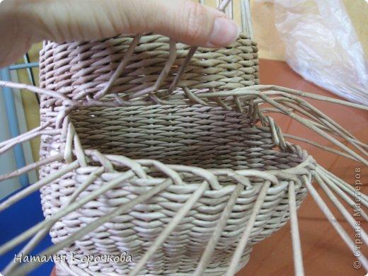 Поделка изделие Плетение Домики для лука с подробностями Трубочки бумажные фото 20