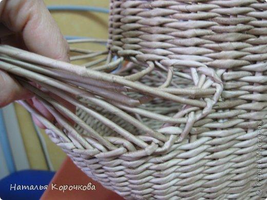 Поделка изделие Плетение Домики для лука с подробностями Трубочки бумажные фото 21