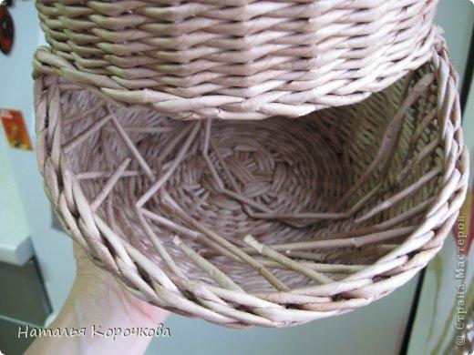 Поделка изделие Плетение Домики для лука с подробностями Трубочки бумажные фото 22