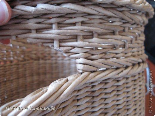 Поделка изделие Плетение Домики для лука с подробностями Трубочки бумажные фото 14