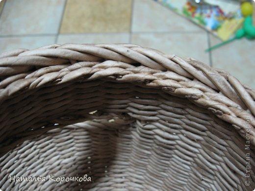 Поделка изделие Плетение Домики для лука с подробностями Трубочки бумажные фото 23