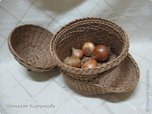 Поделка изделие Плетение Домики для лука с подробностями Трубочки бумажные фото 16