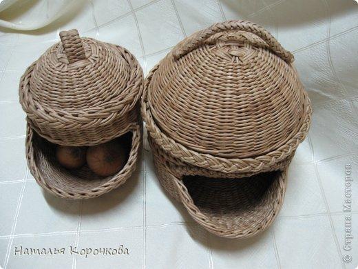 Поделка изделие Плетение Домики для лука с подробностями Трубочки бумажные фото 24