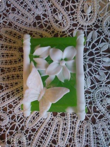 Мыльце сварила из основы , добавила масло хлопковых семян , аромат цветущей липы )) фото 4