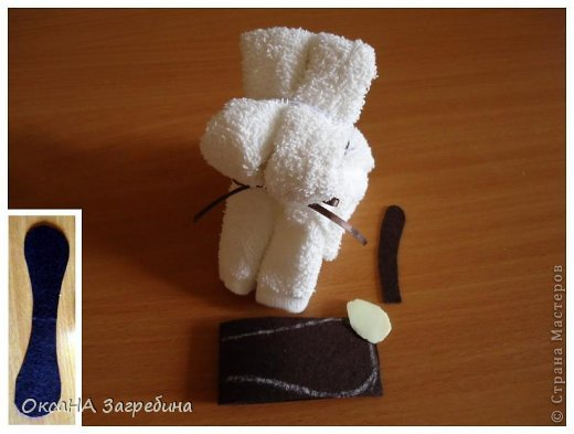 Декор предметов Мастер-класс Моделирование конструирование Щенок из полотенца - МК Ленты Ткань Фетр фото 8