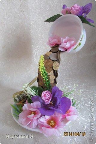 Добрый вечер. Вот мои чашечки. Идею декора цветами подчерпнула тут https://stranamasterov.ru/node/732799?c=favorite Как вам? фото 1