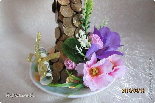Добрый вечер. Вот мои чашечки. Идею декора цветами подчерпнула тут https://stranamasterov.ru/node/732799?c=favorite Как вам? фото 2
