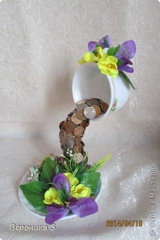 Добрый вечер. Вот мои чашечки. Идею декора цветами подчерпнула тут https://stranamasterov.ru/node/732799?c=favorite Как вам? фото 6