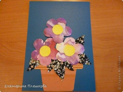 Аппликации из больших цветов. фото 1