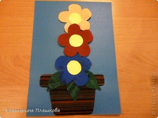 Аппликации из больших цветов. фото 3